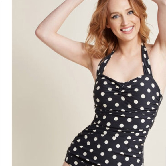 e3c32183ef ModCloth Esther Williams Polka Dot Swimsuit Size 4.  M_5b60947e1e2d2d165e677f05